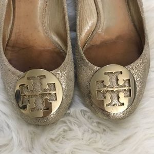 Tory Burch Gold speckled flats